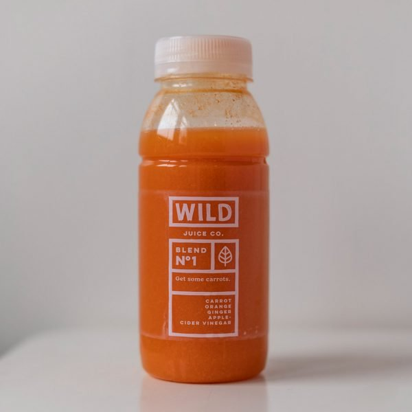 Bottle of get some carrots by Wild Juice