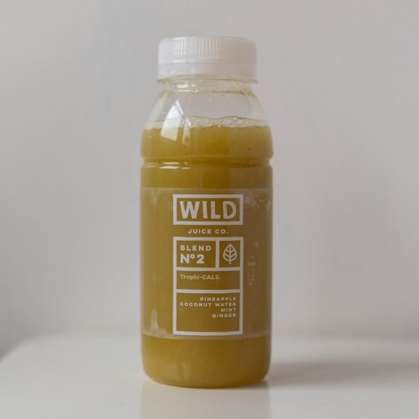 A bottle of Tropic-CALS by Wild Juice