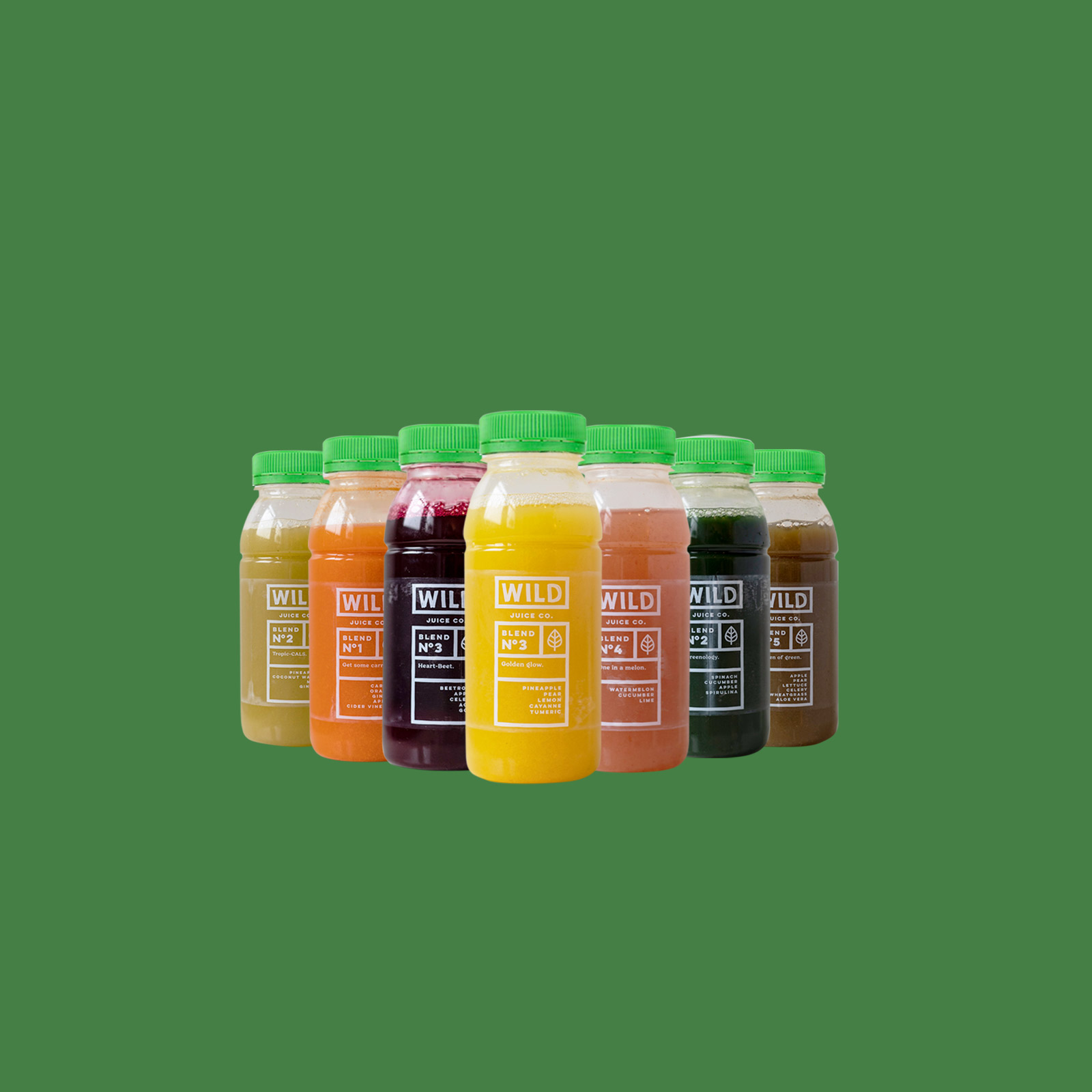 CBD oil infused juices for Wild Juice Co bottles.